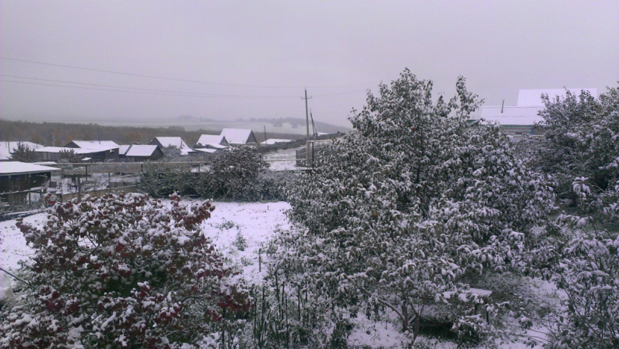 Поселок Буранцы, г.Учалы. Первый снег