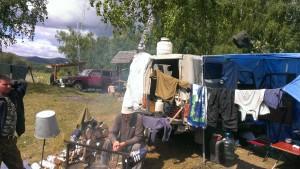 лагерь на озере Шерамбай