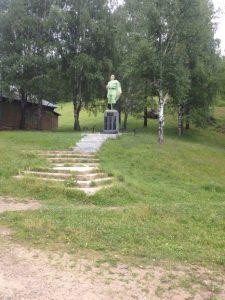 памятник в поселке Сухая Атя